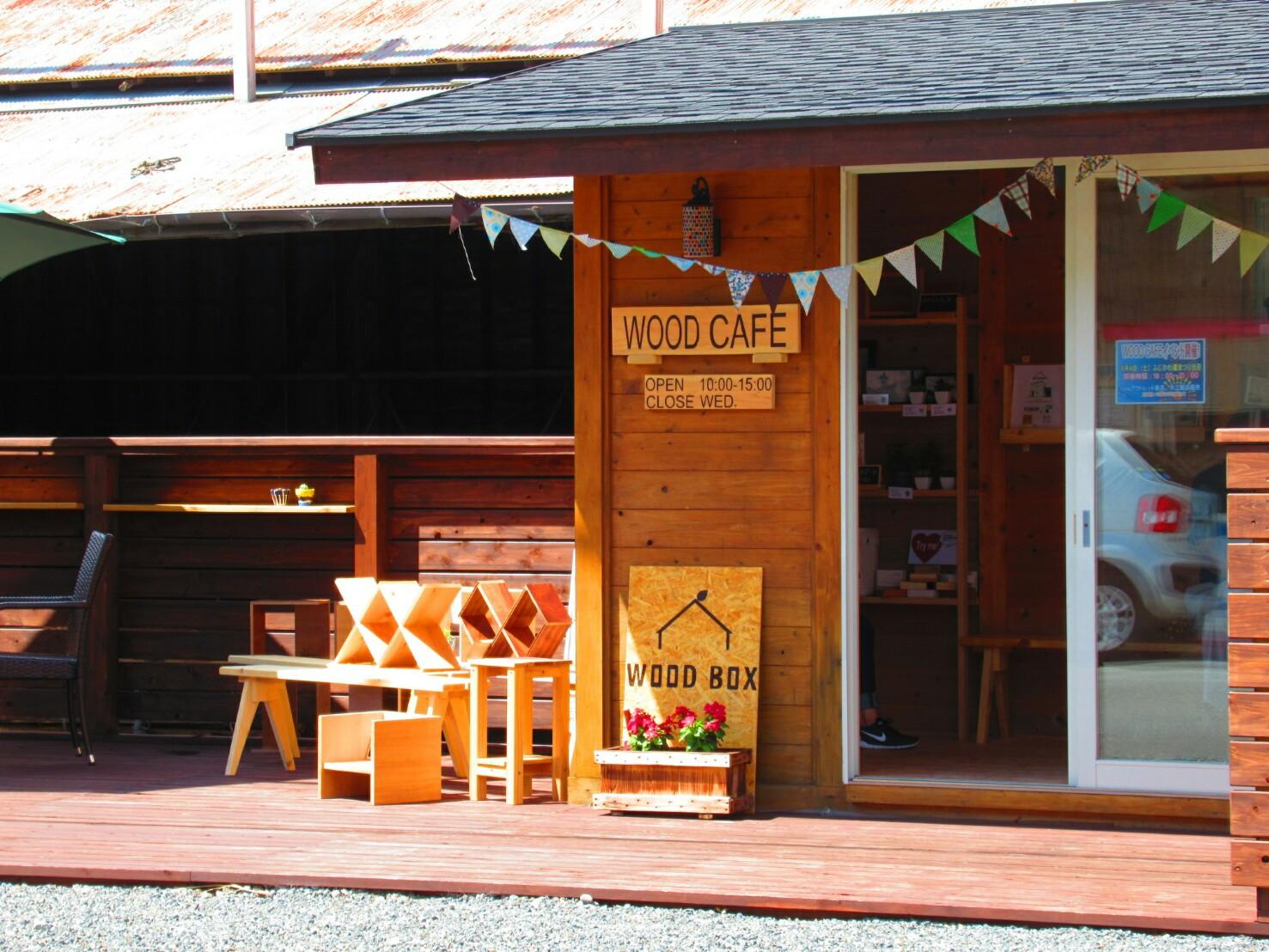 当社のウッドデッキには小屋を置きました。